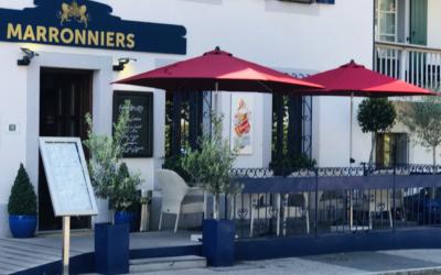 Café des Marronniers à Collonge-Bellerive, vin du mois